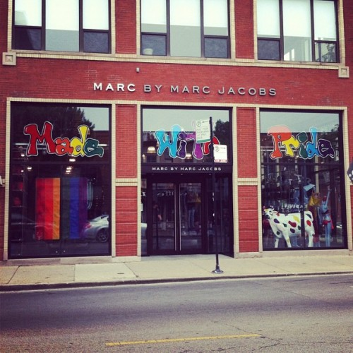 made with pride #marcjacobs #marcbymarcjacobs @marcjacobsintl  #chicago (Taken with Instagram at Marc by Marc Jacobs)
