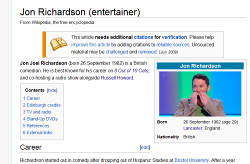 fyeahjonrichardson:  Guys, someone has put up a new photo on Jon's wikipedia page!  HA <3 - Brilliant!  such a sweet moment in an otherwise tense episode
