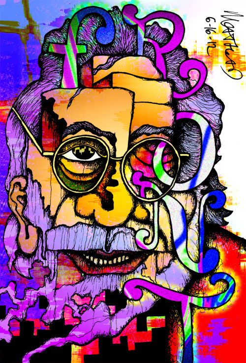 Jerry Garcia (color) Buy a print