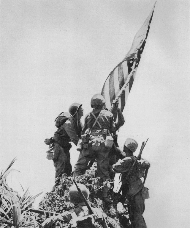dogatemytank:  1945 US Marines of Company G, 22nd Marine Regiment, Ara Saki, Okinawa, Japan