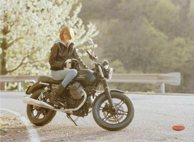 Another beautiful Scott Pommier photo from the Moto Guzzi ad shoot.