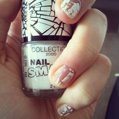 #clearcoat #crack #nail #polish #collection2000 #sally #hansen (Taken with Instagram)