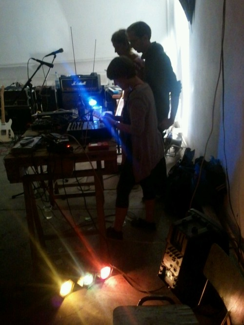 Austrian Gameboy Music Club playing live self composed retro 8bit techno chiptunes at Scharnhorst-Arena