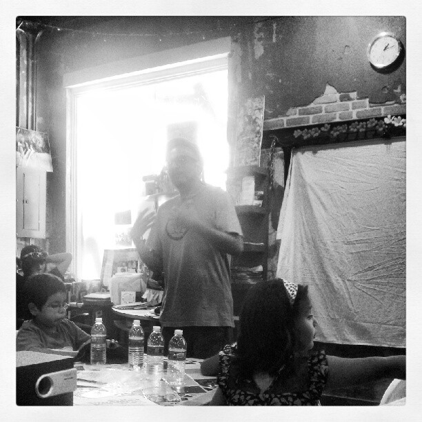 Hearing Bocafloja breaking it down. #hiphop #decolonization #mexican (Taken with Instagram at San Anto Cultural Arts)