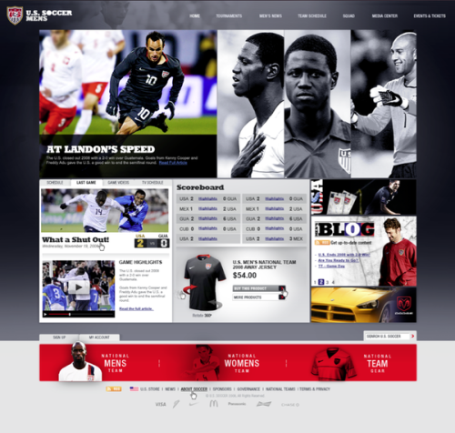US Soccer Web Design