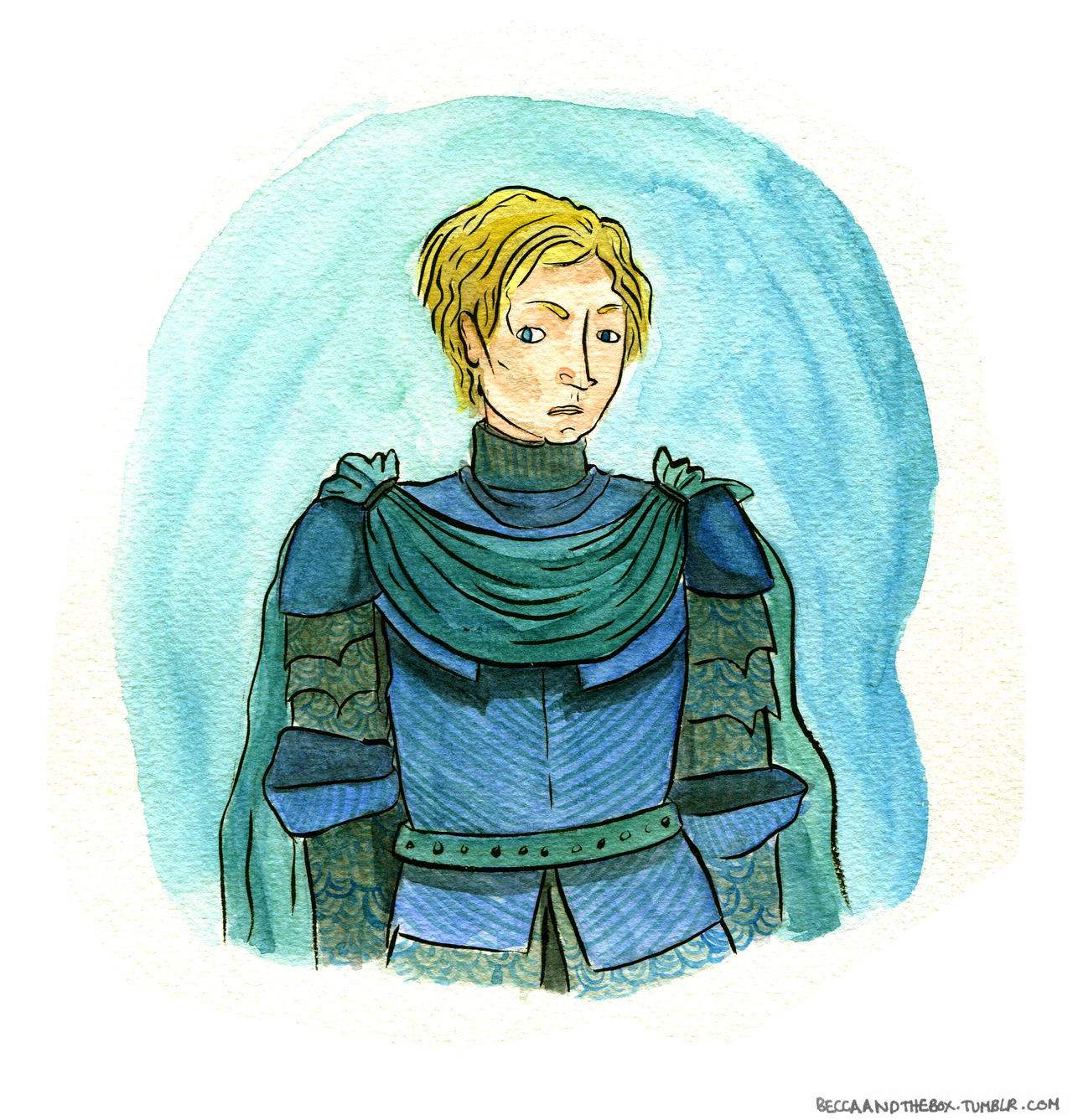 Brienne of Tarth watercolour. What up awesome Game of Thrones ladies?!