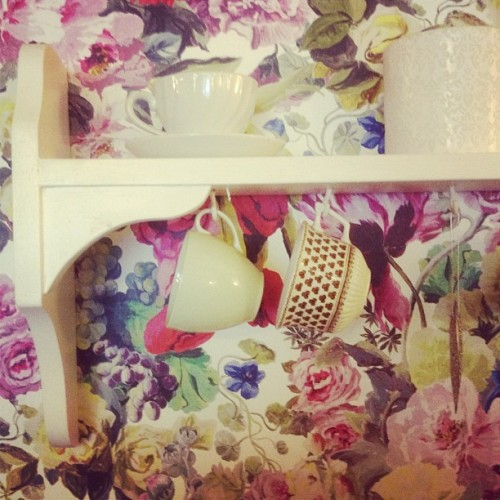 Teacups in #Falmouth #Cornwall #shabbychic #vintage #tea (Taken with Instagram)