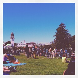 Who's here?! #dolorespark #sfpride2012 (Taken with Instagram at Mission Dolores Park)