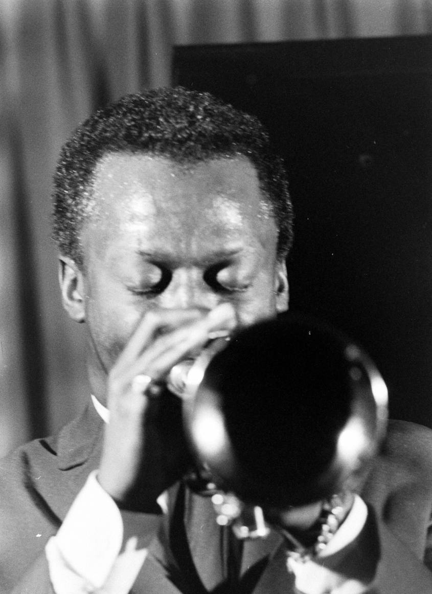 Miles Davis in 1958, by Robert W. Kelley.