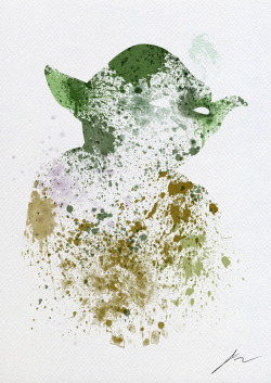 lustfulmuffindemon:  Abstract Paint Splatter Yoda