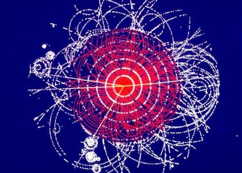 "Excitement Builds Over Expected Higgs Boson Announcement by Clara Moskowitz Anticipation is rising over the expected announcement soon of more evidence for the existence of the long-sought Higgs boson particle. The Higgs has been theorized for years, but never found. Humanity's best hope of discovering the particle lies in the humongous atom smasherburied underneath Switzerland and France called the Large Hadron Collider (LHC). There, physicists collide protons head-on to create explosions that give rise to new, exotic particles, including, maybe, the Higgs. LHC researchers plan to share their latest findings at the International Conference on High Energy Physics (ICHEP) in Melbourne, Australia, from July 4-11. In December of last year, LHC scientists at the machine's home facility, the CERN physics laboratory in Geneva, reported they'd seen hints of what could be the Higgs boson in an excess of particles weighing about 124 or 125 gigaelectronvolts, or GeV, a unit roughly equivalent to the mass of a proton. However, the physicists hadn't accumulated enough data to announce a discovery, which in science requires a certain level of statistical significance called ""five sigma.""…  (read more: Live Science)          (image: CERN/ATLAS)"