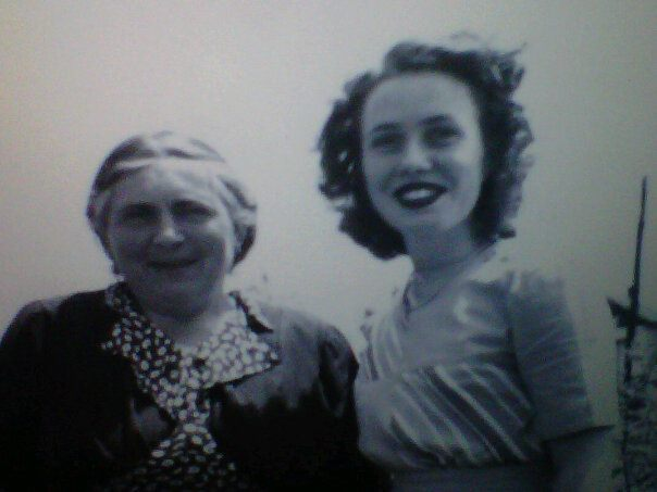 My Grandpa's mother on the left Loretta. My Grandma on the right. Two beautiful people, they look so happy here :)