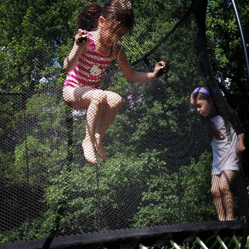 #twins jumping at friends house #kids (Taken with Instagram at New Cannan)