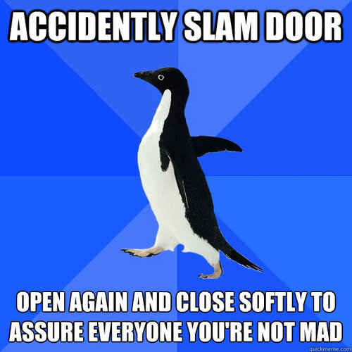This happens to me when its windy and I close the back door.