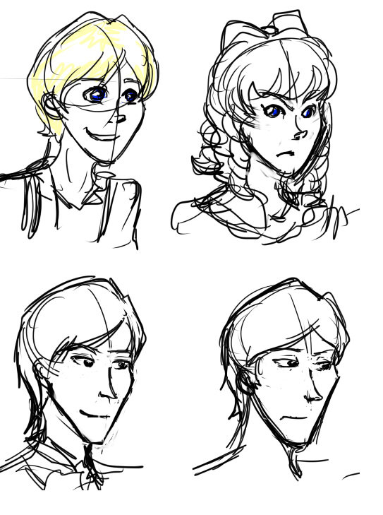 ninelifed:  Some Chrestomanci character design doodles. Cat, Gwendolen, and two of Chrestomanci.  I want to make a Chrestomanci askblog but I'm afraid I can't draw them consistently enough aaah (I am so, so sorry to any of my followers who haven't read Chrestomanci. Except I'm not. Go read Chrestomanci.)