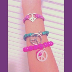 My #peace Collection… #peacebracelet #peace #mine #cute #love #bracelets #instago #instagram #instadaily #instapop #instagood #instapict #instanesia #instagramers #ig #igdaily #igers #iphone4 #iphonesia #sundaymorning #nadinekallya #photooftheday  (Taken with Instagram)