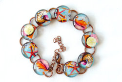 Seashell Resin Bracelet by lunapurpurie on Etsy