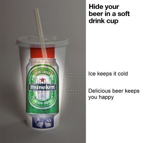Hmmm actually, try this with your coke and add vodka or jack. Beer? From a straw? Really?