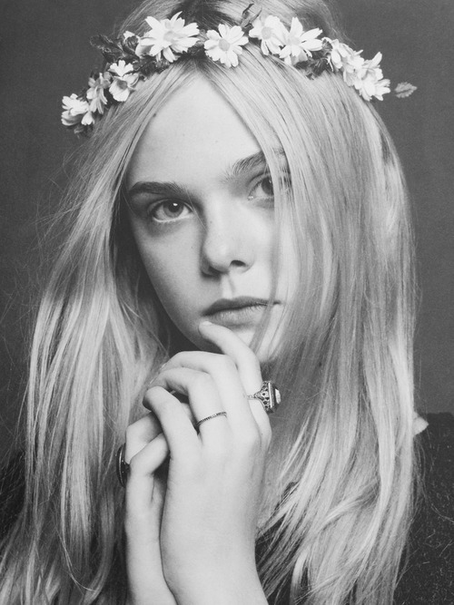 "Elle Fanning photographed by Karl Lagerfeld for the book ""The Little Black Jacket Chanel's Classic Revisited"""