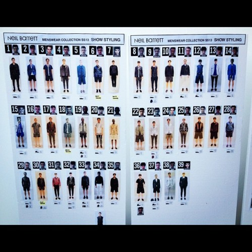 Neal Barrett Spring 2013 looks board (Taken with Instagram)