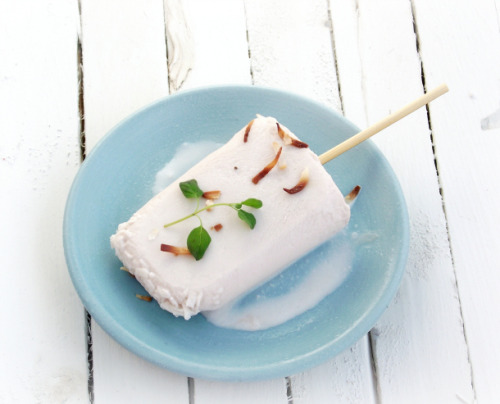 {eat} coconut milk and honey popsicles: recipe here