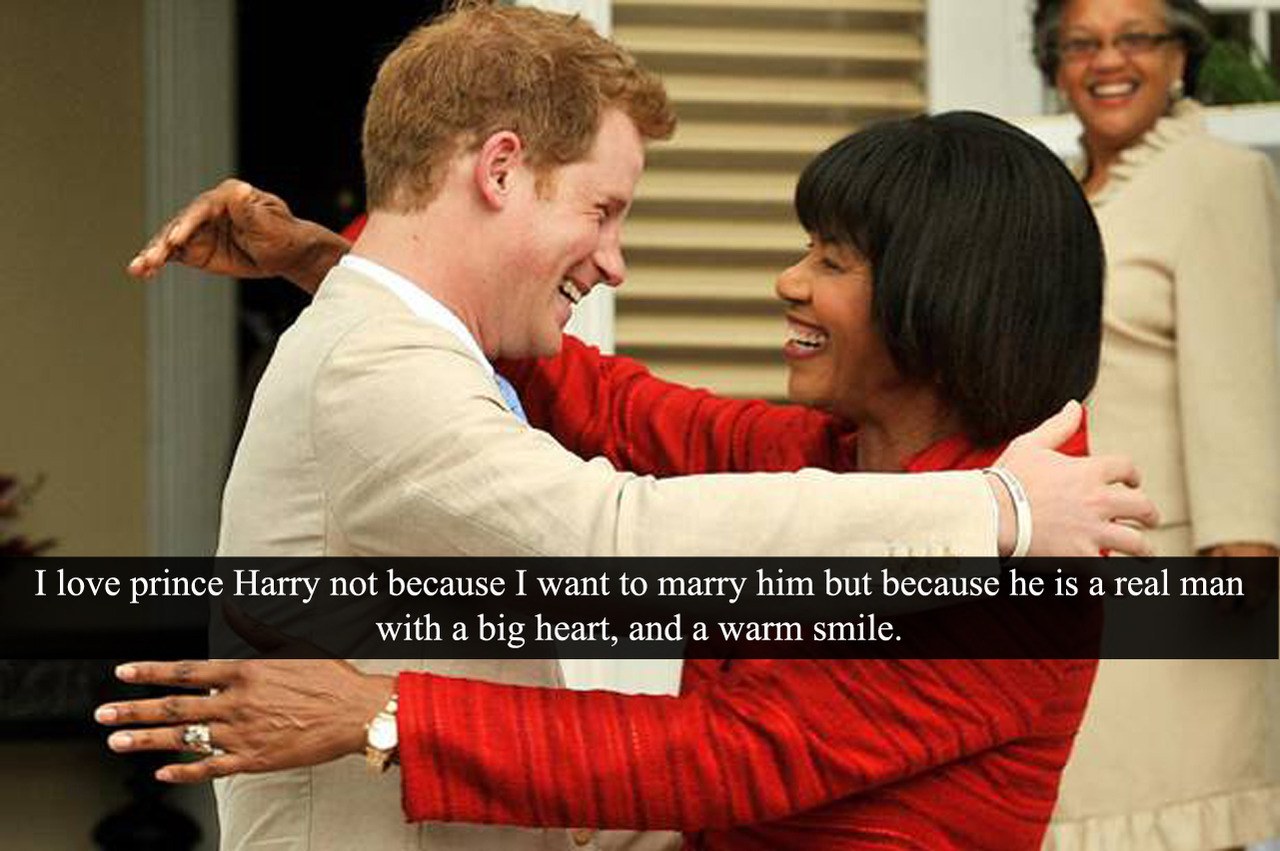 "(Post by Varya) ""I love prince Harry not because I want to marry him but because he is a real man with a big heart, and a warm smile."" - Submitted by Anonymous"