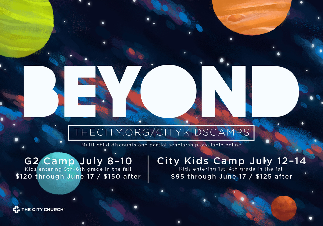 Flyer for summer kids camp at my church