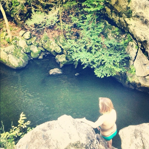 cliff diving (Taken with Instagram)