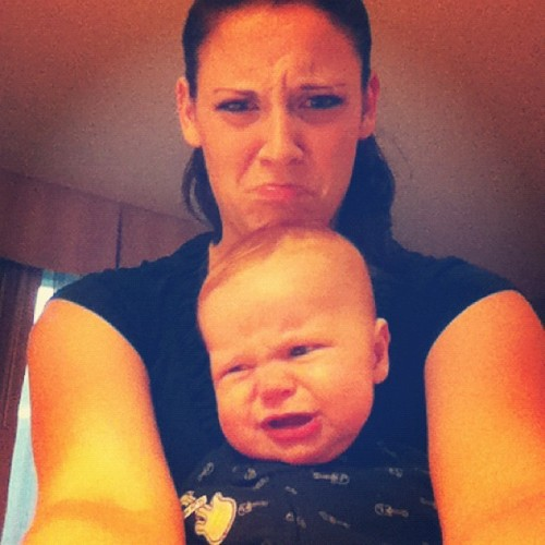 I make this face when I have to poo, too!  (Taken with Instagram)