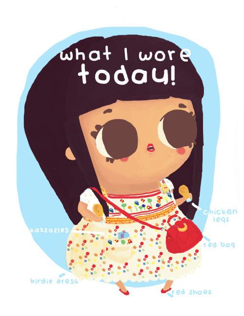 "My ""what I wore today"" illustration, on Gemma Correll's Blog <3. http://whatiworedrawings.blogspot.mx/2012/06/naty-muffins.html"