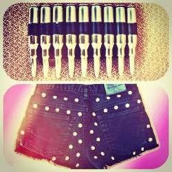 New shyt. #custom #handmade #studs #bullets #belt #buckle #denim #studs #punk #grunge #hipster #instafashion #frames #picoftheday #pastel #calvinklein #moonshineapparel #etsy #new #sale moonshineapparel.etsy.com (Taken with Instagram)