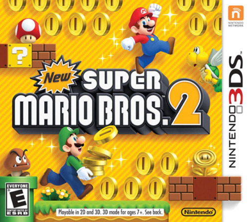 E3 2012 COVERAGE: NEW SUPER MARIO BROS. 2 (NINTENDO 3DS) - Nintendo had a very short section on the Nintendo 3DS at this years conference but they did show a new addition to the Super Mario franchise where collecting coins is the main objective. Mario returns to handhelds in New Super Mario Bros. 2 this time around in 3D, meaning it'll not only come to the DS but the 3DS as well. In Mario Bros. 2 not only are you going to have to rescue the princess but also collect 1 MILLION COINS ! ! ! Yes coins are very important in this game but so is rescuing the princess which means youll need a little help from some familiar Mario allies, Luigi makes a return along with an arsenal of powerups like the raccoon suit and penguin suite. There was also a brief moment where we saw Mario turn solid gold when reaching a certain amount of coins if this is a power up its powers are still unknown to us but sooner or later well find out what this power does.    New Super Mario Bros. 2 will be a digital download on Nintendo 3DS's eShop as well as a physical copy you can actually purchase at a store just download and play on the go anytime. The price is still unknown but most likely will be in the be 35.99 range like any other 3DS game and its release date will be sometime in August 2012. This is all the news we have on this game for now but let us know what you think about this title : Are you excited to play another mario game? what do you think this mystery golden suite's power will be? -8BITQUEST