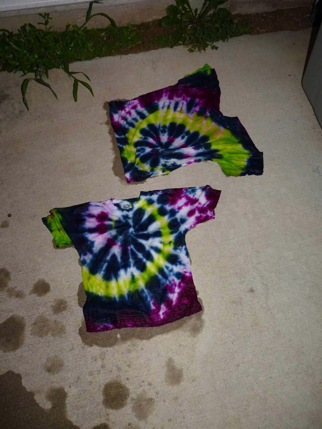 our kick-ass tie-dye shirts!  they will surely fade with a proper wash, but WHAT?! awesome!  (6/23/12)