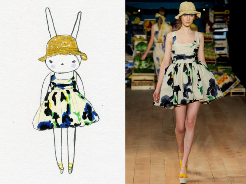 Fifi Lapin wearing Moschino Cheap & Chic
