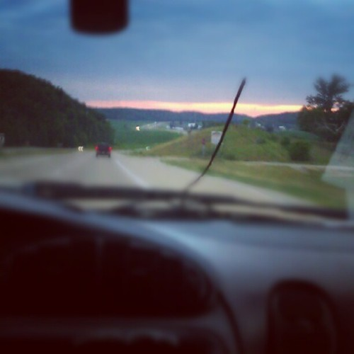 Almost there. Absolute Beautiful sunset. (Taken with Instagram)