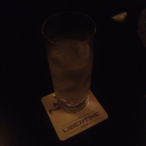 Square ice cubes.  (Taken with Instagram at The Libertine)