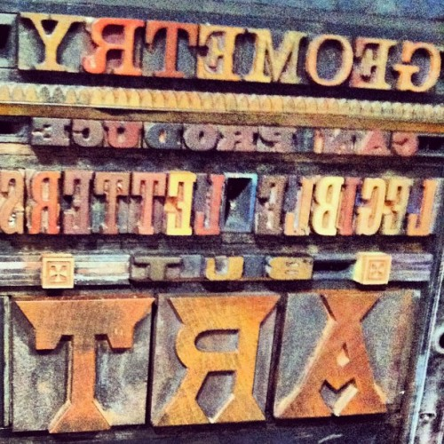 Day 252: Letterpress #typegeek365 #photo365 #letters #tumblr  (Taken with Instagram)