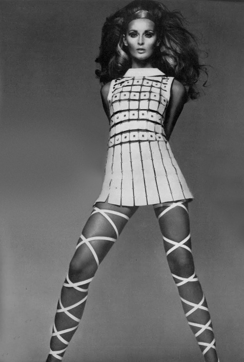 theyroaredvintage:  Photo by Richard Avedon, 1967.A Paco Rabanne dress and the world's most amazing sandals.