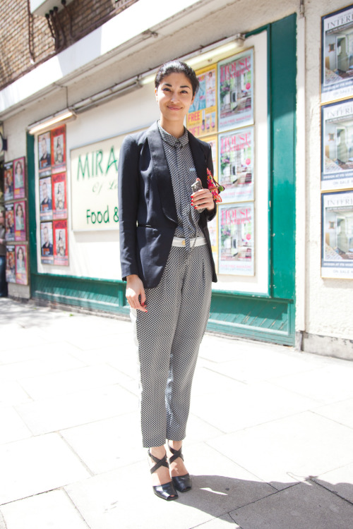 "Caroline Issa in London @CaroIssa (That's Caro - Issa, an ""i"" not ""L : ) )  @TankMagazine @BecauseMagazine She had really cute blue mascara or eyeliner on! See the first time I shot her here! :) Thanks so much Caroline!"