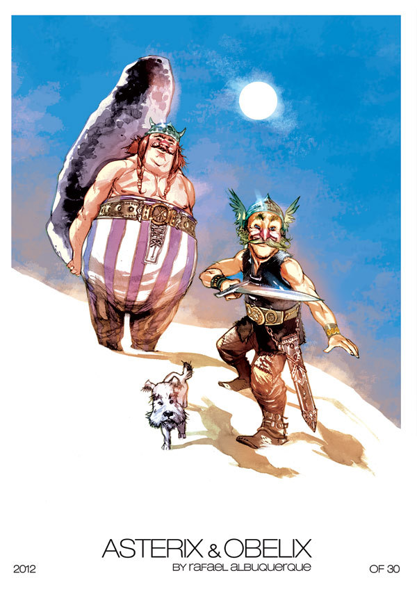 Asteris and Obelix Print by *rafaelalbuquerqueart