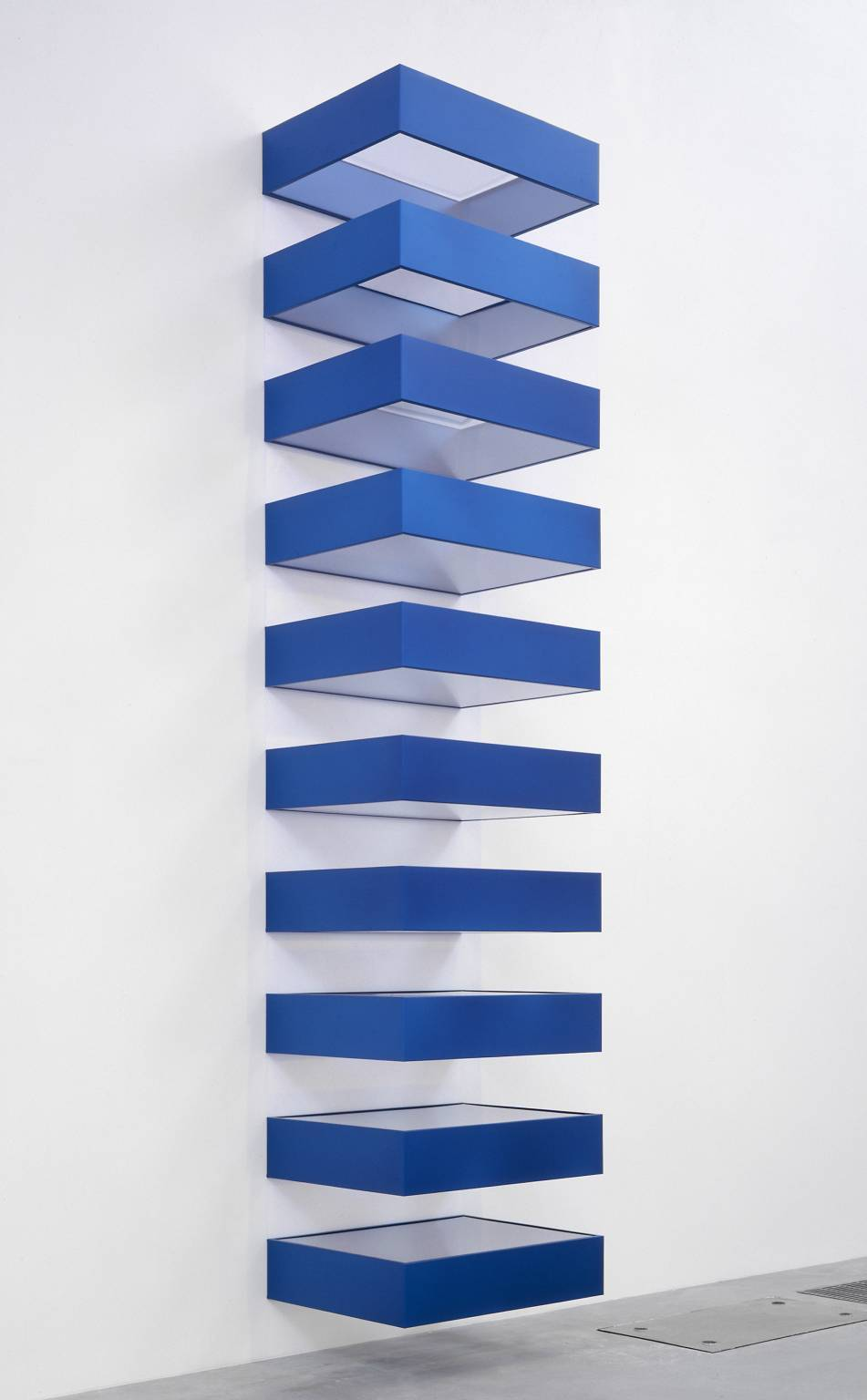 Donald Judd - Untitled, 1990. Anodised aluminium, steel and acrylic
