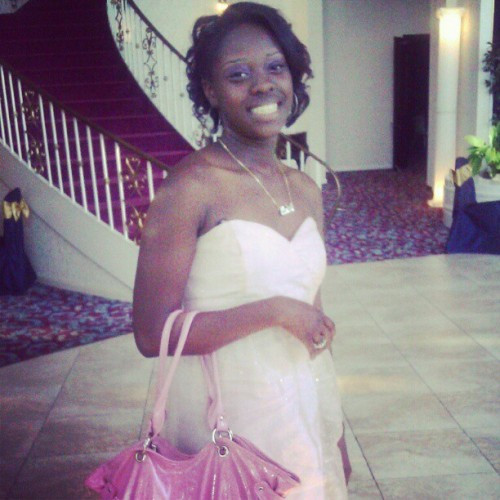 Me at my cuzins wedding. In the dress I made. (Taken with Instagram)