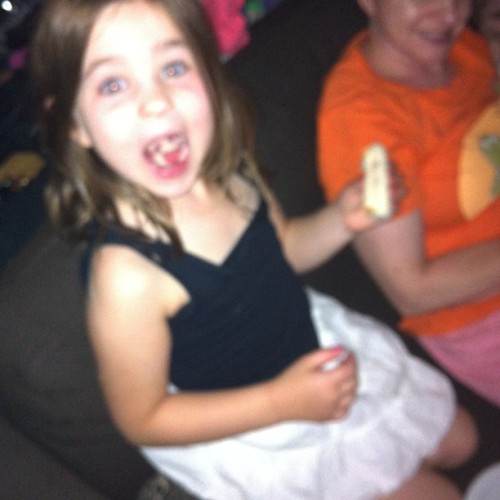 Just made Julieanna a jelly sandwich during movie time, it gave me great joy.  (Taken with Instagram)