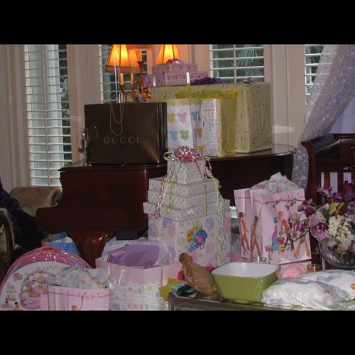 My baby shower gifts! #lhhatl #loveandhiphopatlanta #MimiFaust (Taken with Instagram)