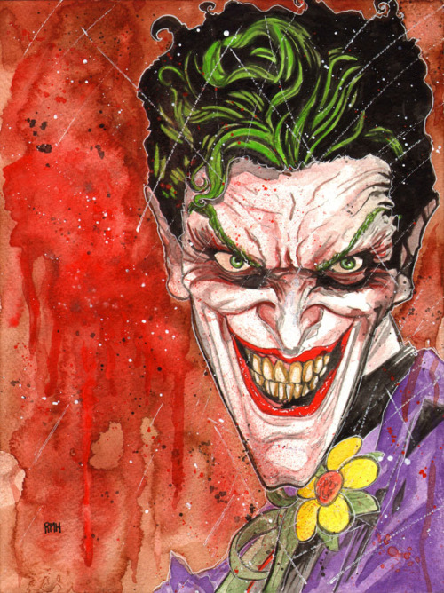 Joker Commission by Rich Hennemann www.comicbookquest.com