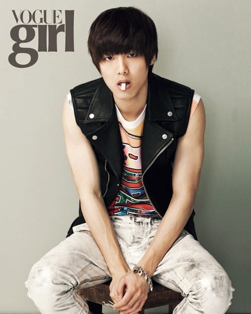 "Minhyuk ""bad boy image"" for Vogue Girl Korea July 2012 #1"