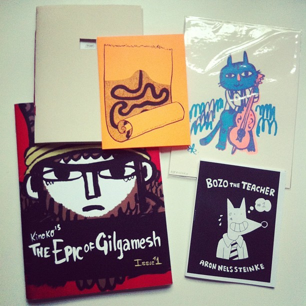 jasonniebauer:  Swap zines for these goodies today at the IPRC mini zine fest! @kinokogallery @purrbot #zine #portland #pdx #iprc (Taken with Instagram)