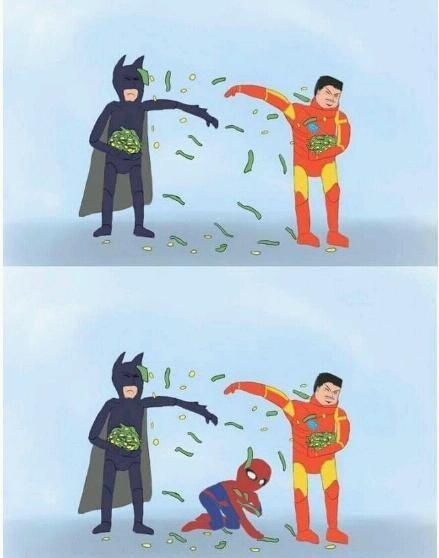 s8rlink:  A fight between Tony Stark and Bruce Wayne