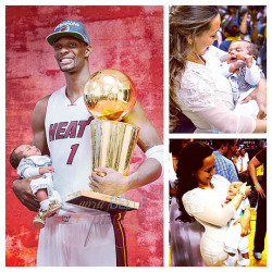 fuckyeahhmiamiheatt:  Bosh holding his two prized possessions.