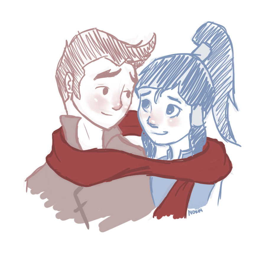Mako and Korra make such a cute couple. I'm sorry I couldn't help it. Please don't kill me.